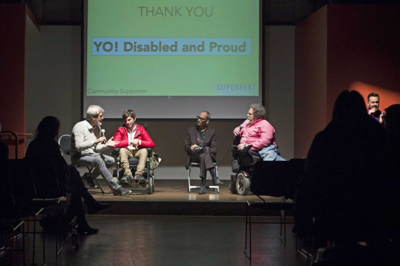 (Left to right) Rubi Gat, Yam Gat, Ross Turnbull and Jim LeBrecht talk about