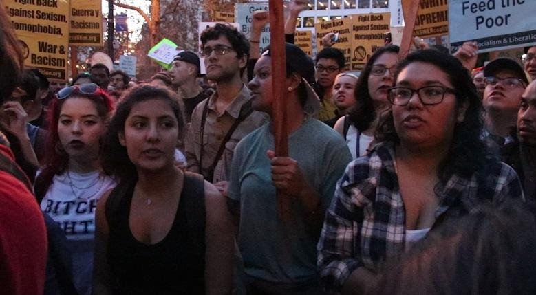 Students+join+other+protesters+at+Market+and+Powell+street+to+speak+out+against+Trump%2C+November+9%2C+2016.+