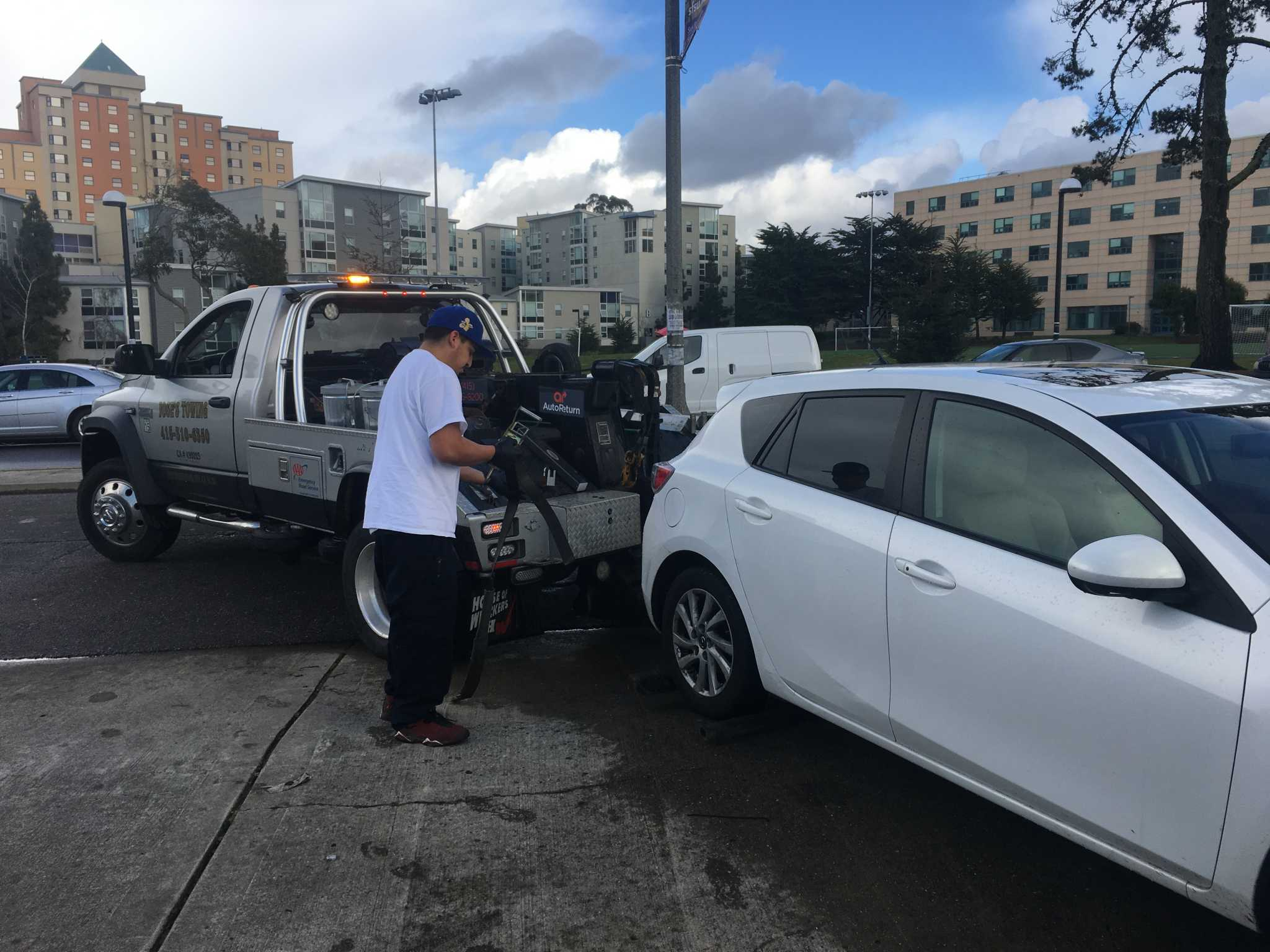 Student vehicles towed