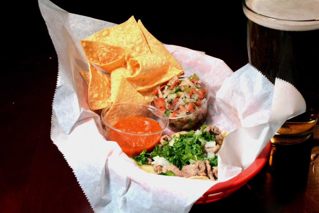 The Chug Pub, located at the intersection of 20th Avenue and Lincoln Way, serves tacos on Monday, Feb. 13, 2017 (Aaron Levy-Wolins/Xpress)