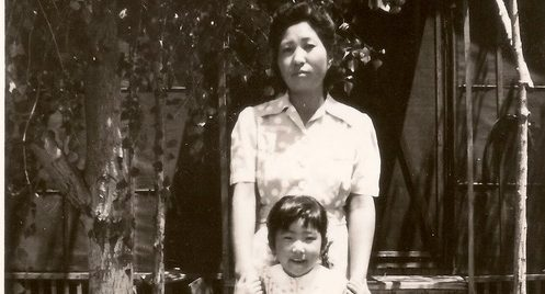 Emiko Omori and her mother, Haruko Fujita Omori, circa 1947 (Courtesy photo/ Emiko Omori).