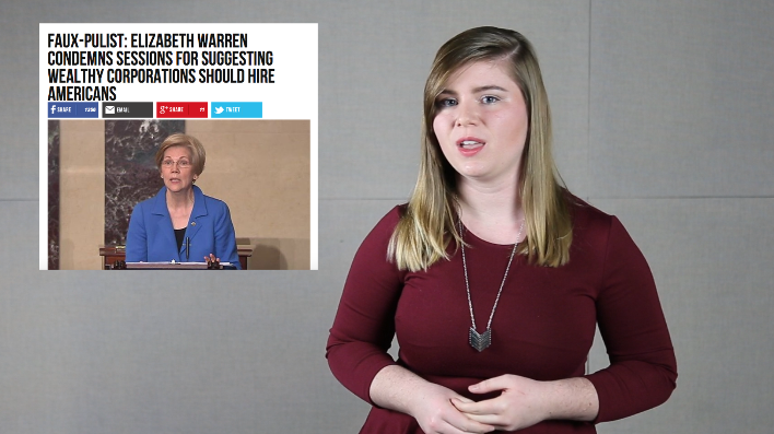 The Fake News Watch: Sessions vs. Warren (Ep. 2)