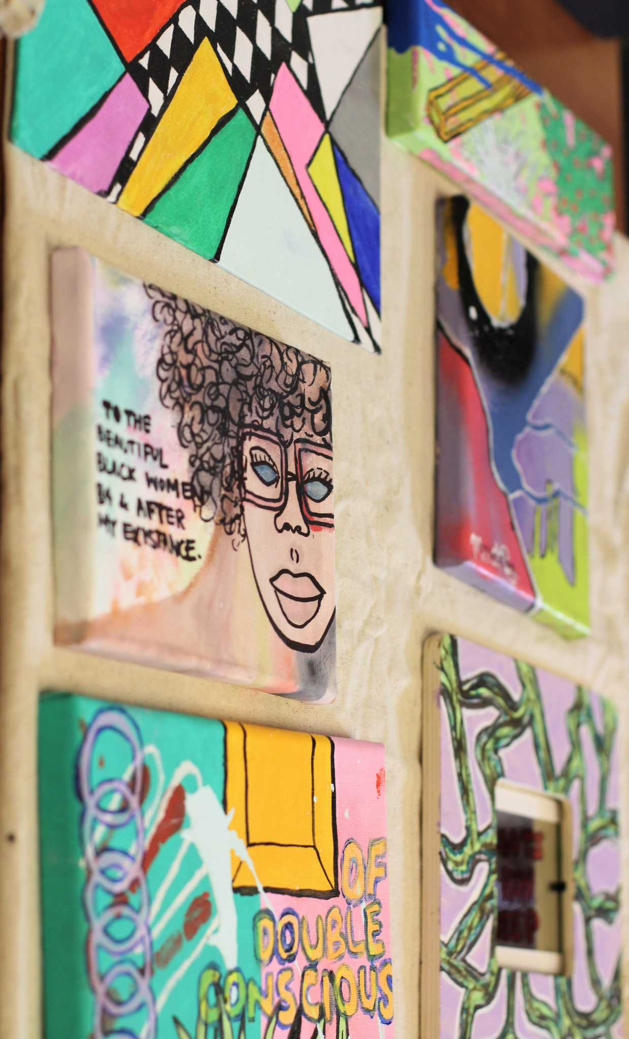 The Ethnic Studiers department holds a student art show in the ethnic studies building at SF State on April 26, 2017 in San Francisco, Calif. (Alina Castillo/Xpress)