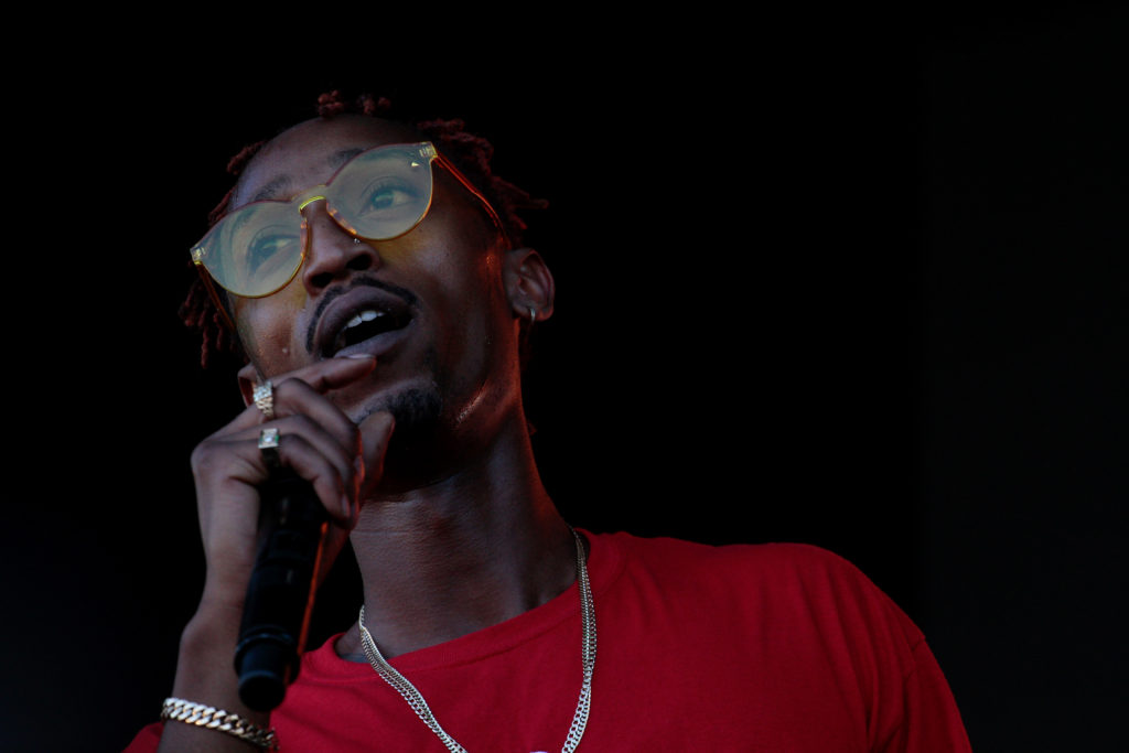 Marty grimes during his performance at the Shoreline Amphitheater during the Rolling Loud music festival in Mountain View, Calif. on Oct. 21, 2107.