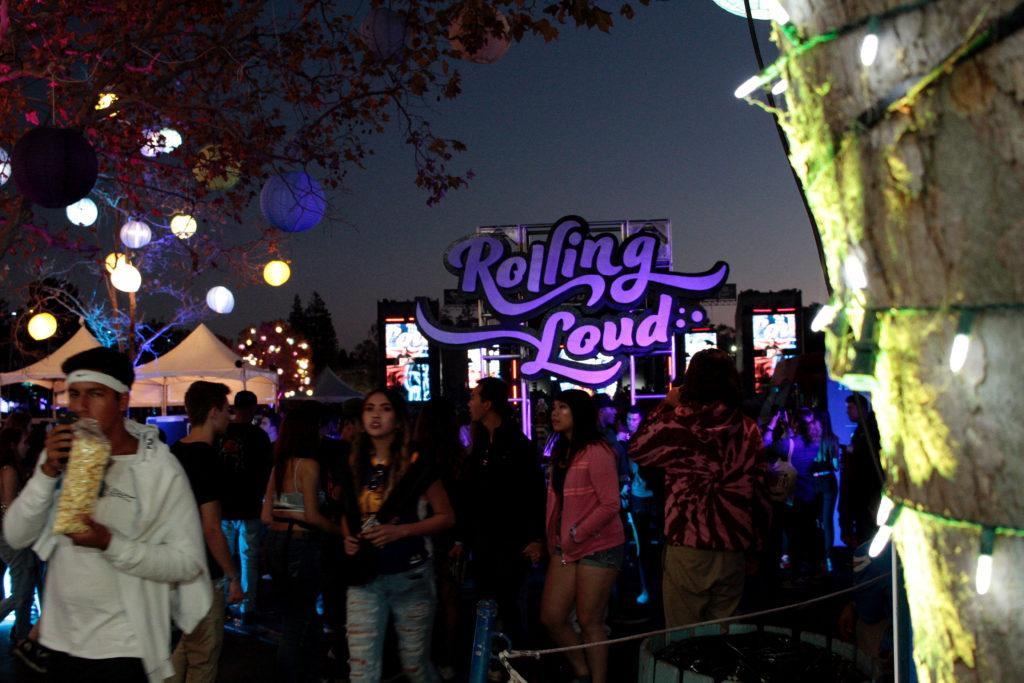 After the sun went down the Rolling Loud music festival lit up with bright and colorful lights at the Shoreline Ampletheater in Mountain View, Calif. on Oct. 21, 2107. (Mason Rockfellow/Golden Gate Xpress)