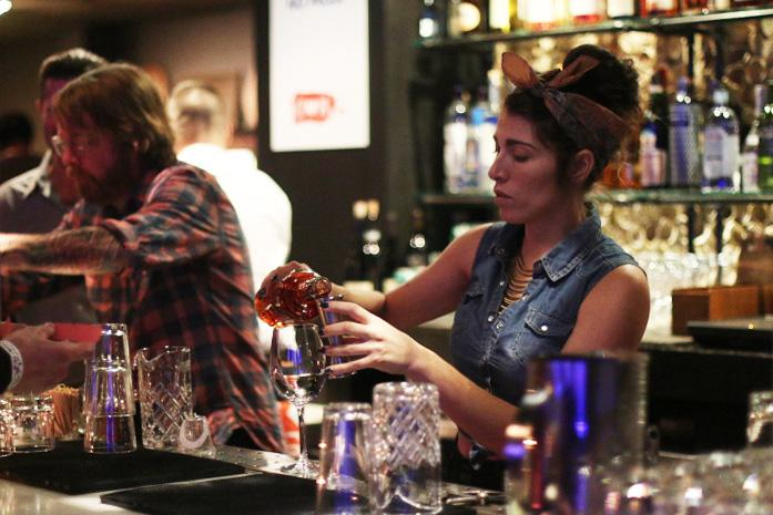 The United States Bartender Guild San Francisco Chapter hosts a fundraiser at Local Edition in San Francisco to support those affected by the recent  hurricane in Puerto Rico on Oct. 29, 2017. (Laila Rashada/Golden Gate Xpress)