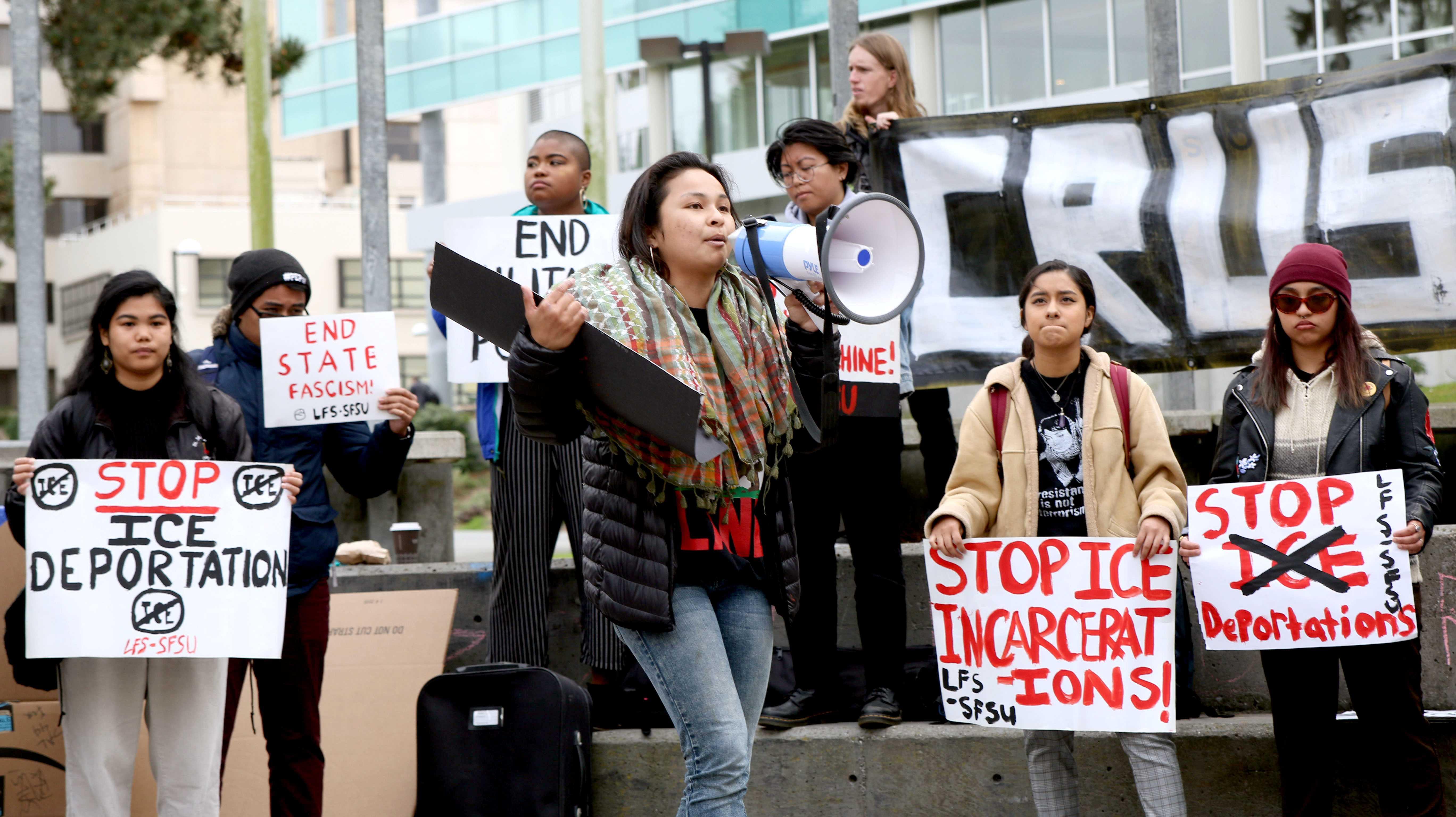 #ICEoutofCA protest