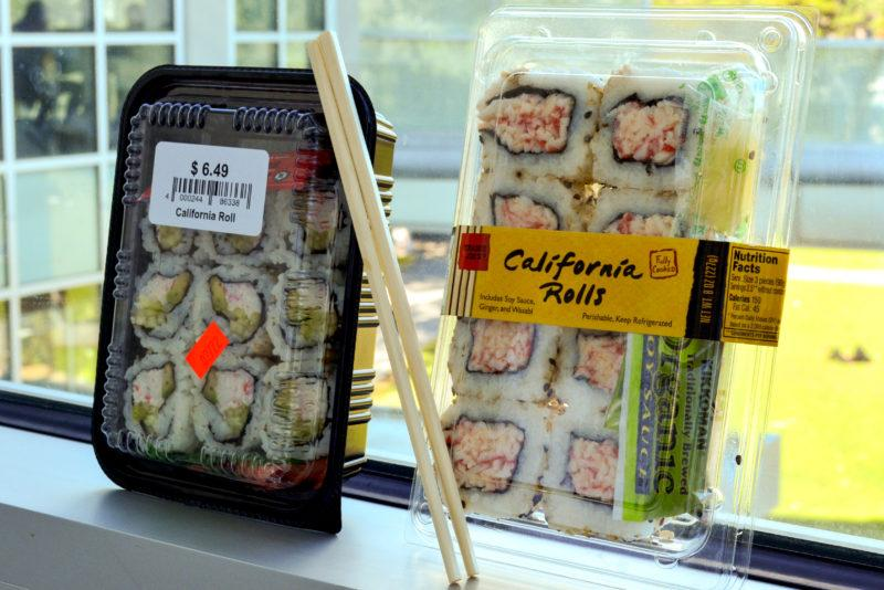 Sushi for sale.  (Bryan/Golden Gate Xpress)