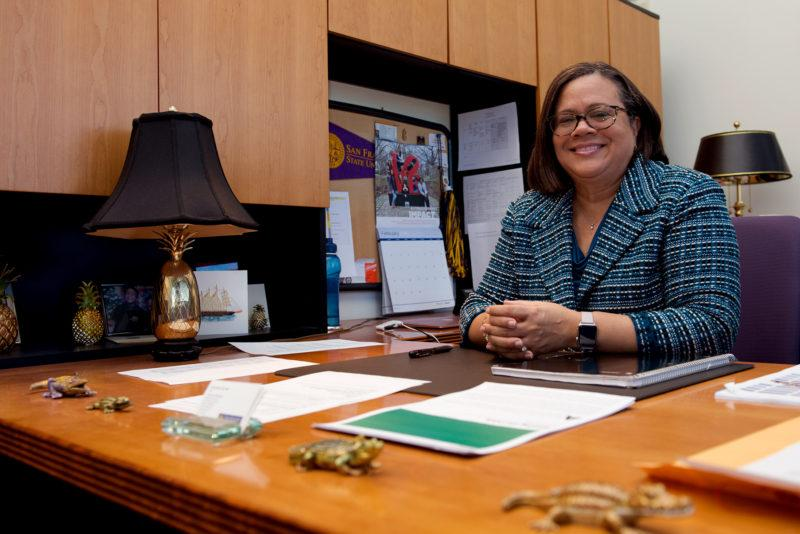 Linda Oubre, the dean of San Francisco State's College of Business will leave SF State in June. (David Rodriguez/ Golden Gate Xpress)