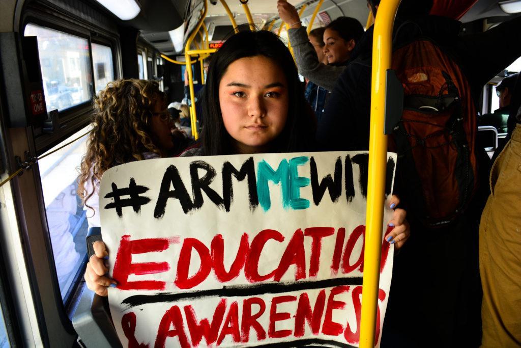 """""""I care about change,"""" said Ava Nordling, 18    (Bryan Ramirez/ Jacqueline Pinedo Golden Gate Xpress)"""