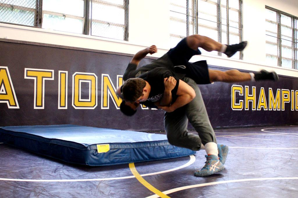 Orry Elor trains with a teammate at SF State on Thursday, March. 1, 2018. (Oscar Rendon/Golden Gate Xpress)