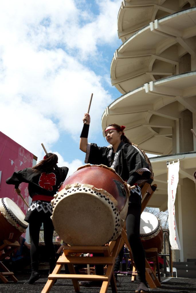 Young members of the San Francisco Taiko dojo put a passionate performance for the people attending the 2018 Northern California Cherry Blossom in San Francisco on Saturday, Apr. 15, 2010. (David Rodriguez/Golden Gate Xpress)