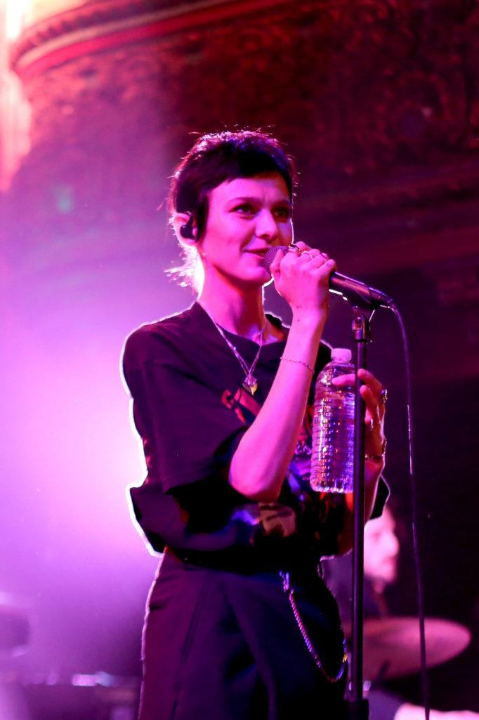 Morgan Saint introduce herself to the audience between songs at Great American Music Hall in San Francisco on Saturday, March 31, 2018. (Aya Yoshida/Golden Gate Xpress)