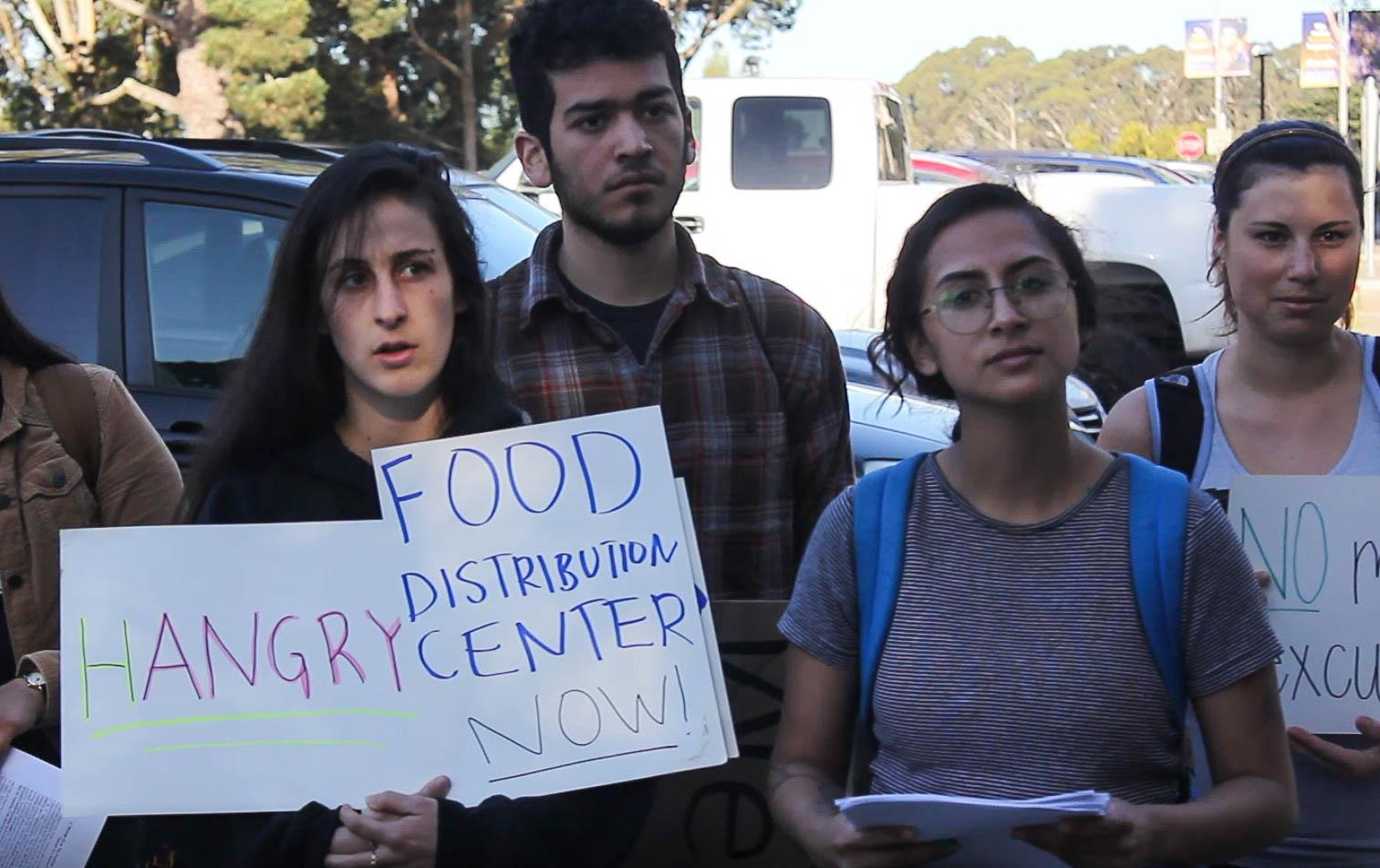 Students protest the food insecurity issue