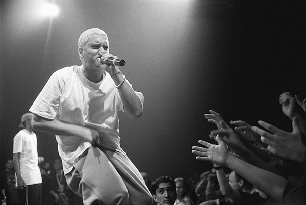 Eminem is not backing down from his feud with Machine Gun Kelly. (Courtesy of Wikimedia Commons)