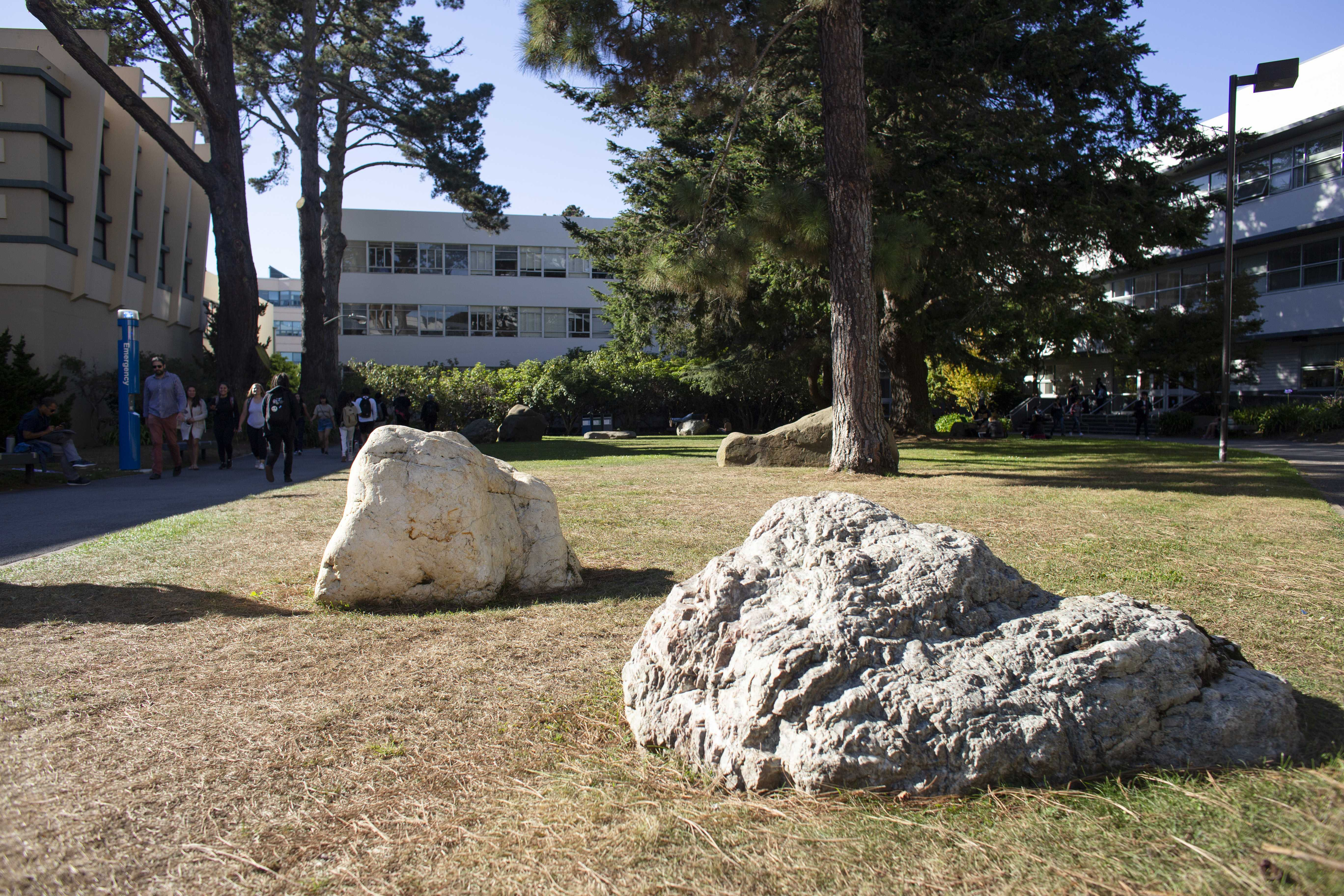 The Garden of Remembrance features 11 stones that represent Japanese Internment camps that were used nationwide during WWII. (Christian Urrutia/Golden Gate Xpress)