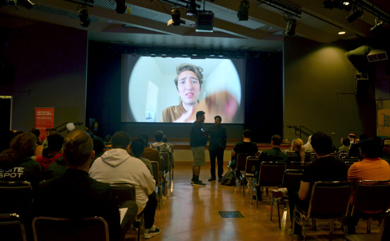 Campus Movie Fest celebrated the top 15 videos produced amongst SF State students on Thursday Oct. 11. (Nicole Newman/Golden Gate Xpress)