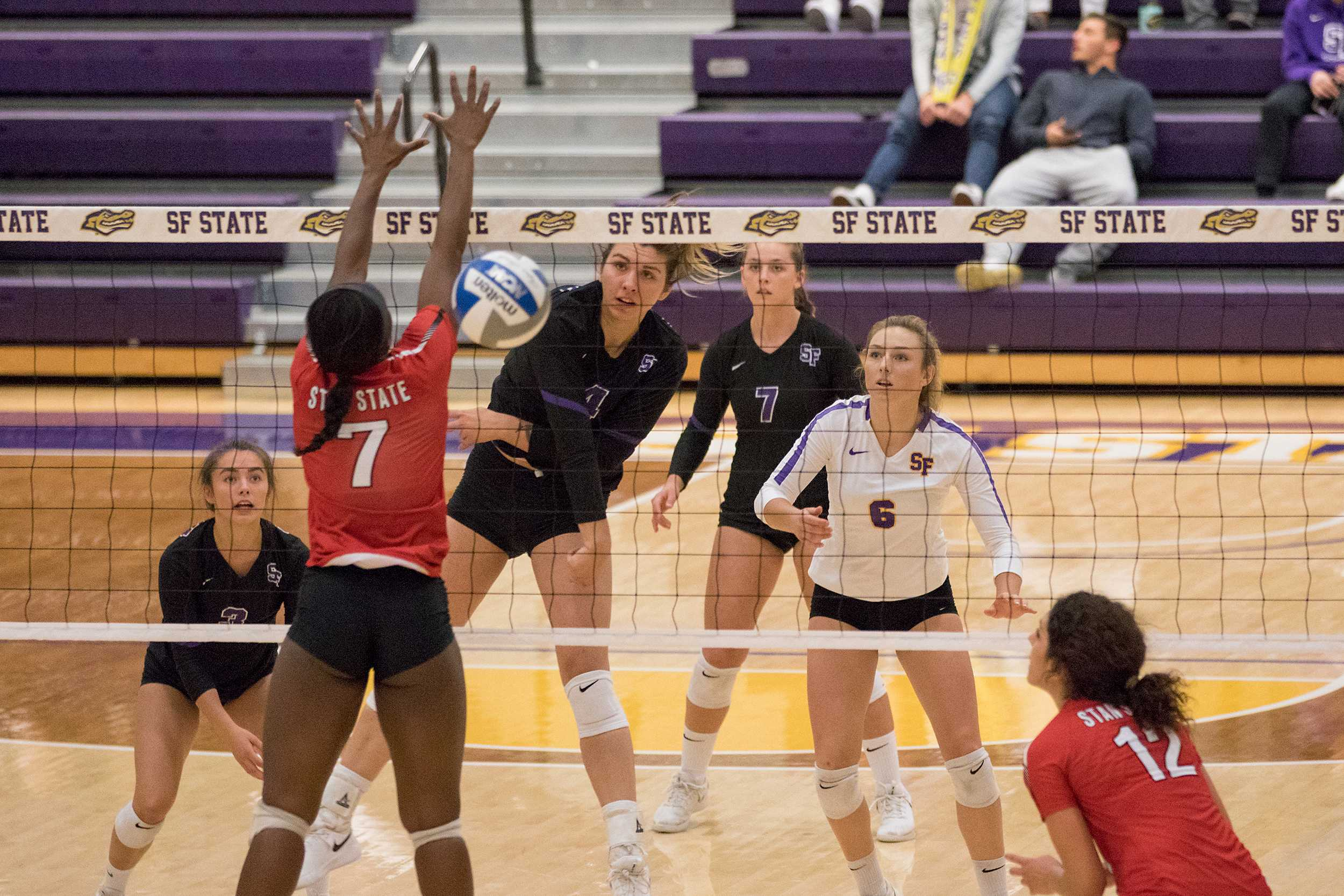 SF State wins first in five against Stanislaus State 3-1, climbs CCAA playoff ladder.