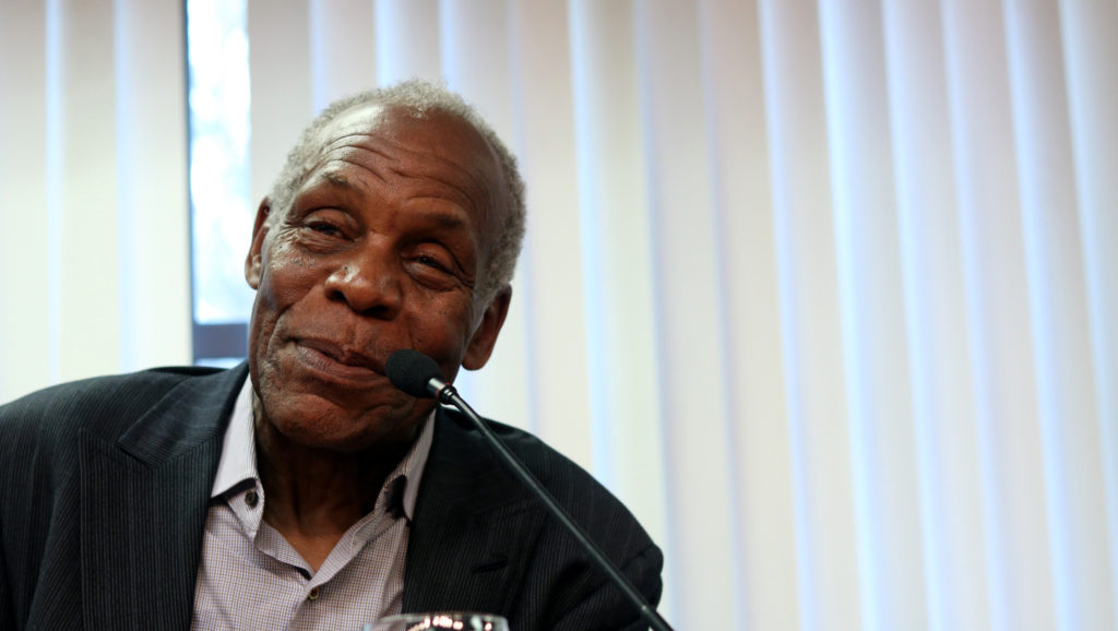 "SF State alumnus Danny Glover speaks at the ""SF State Student Strike 50th anniversary"" event, held in the Conference Towers on campus in San Francisco, Calif., on Saturday, Nov. 10, 2018. (Evan Moses/ Golden Gate Xpress)"