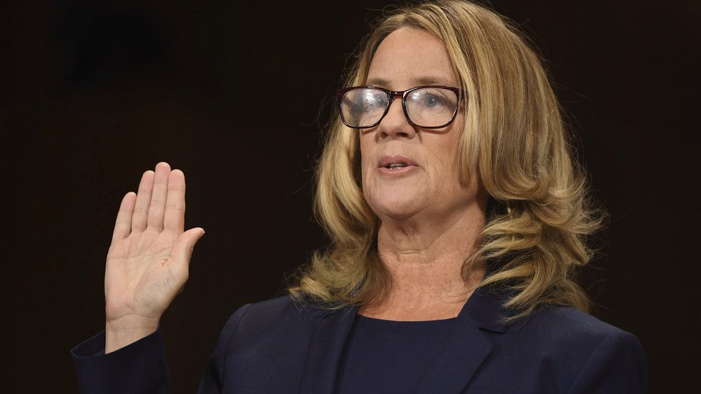 Christine+Blasey+Ford+is+sworn+in+to+testify+before+the+Senate+Judiciary+Committee+on+Capitol+Hill+in+Washington%2C+Thursday%2C+Sept.+27%2C+2018.+%28Saul+Loeb%2FPool+Photo+via+AP%29