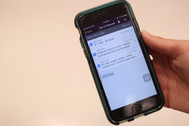 Gator Grub Alert sends notifications to students who login and opt-in on the SF State app and went live on Monday, Nov. 12, 2018. (Christian Urrutia/Golden Gate Xpress