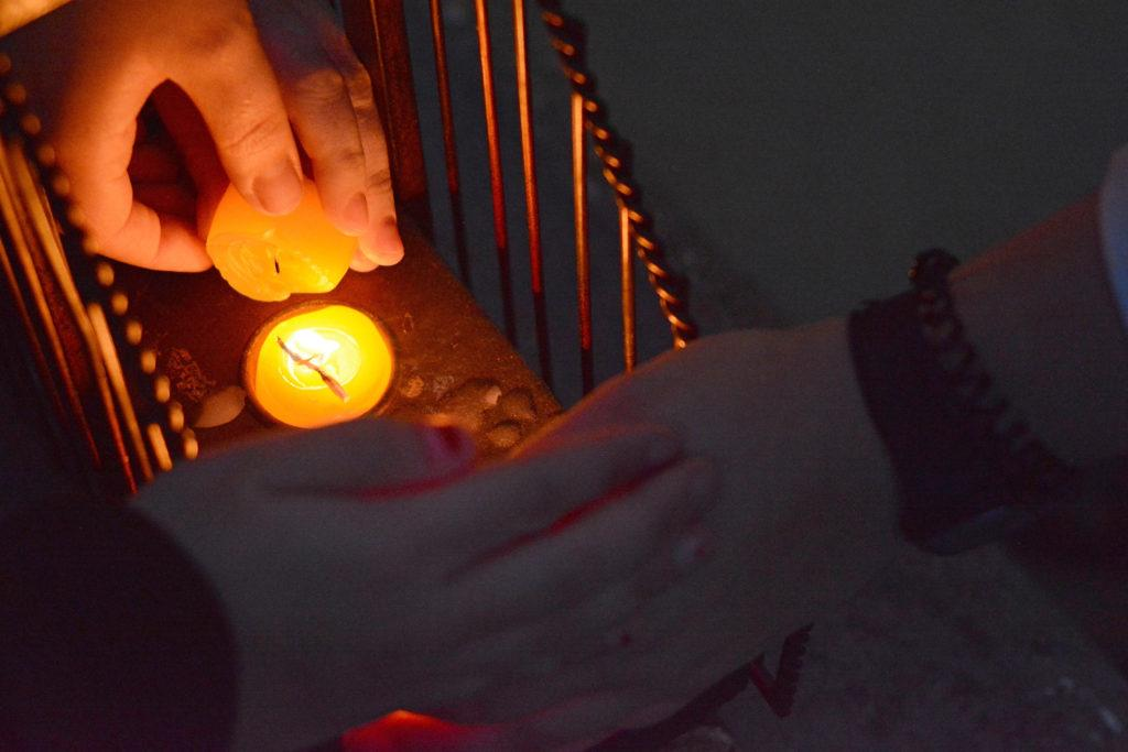 Students+protect+lit+candles+from+flames+while+they+light+the+Hanukkah+menorah+as+they+celebrate+Hanukkah+at+SF+State+in+San+Francisco%2C+Calif.%2C+on+Monday%2C+Dec.+3%2C+2018.+The+Jewish+holiday+is+commemorates+the+victory+of+Jewish+guerrilla+fighters%2C+known+as+the+Maccabees%2C+over+the+Seleucid+empire+-+a+Hellenistic+state.+%28Aaron+Levy-Wolins%2FGolden+Gate+Xpress%29