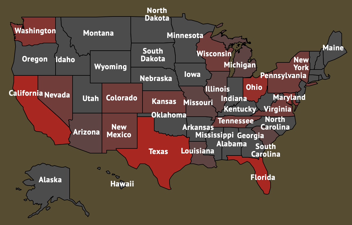 Active shootings in the U.S.