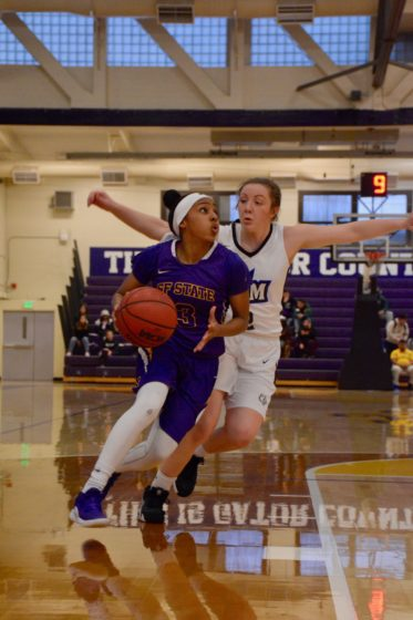 The SF State Gators play the Cal State San Marcos Cougars at The Swamp on Thursday, Feb. 21, 2019. Photo by Tristen Rowean