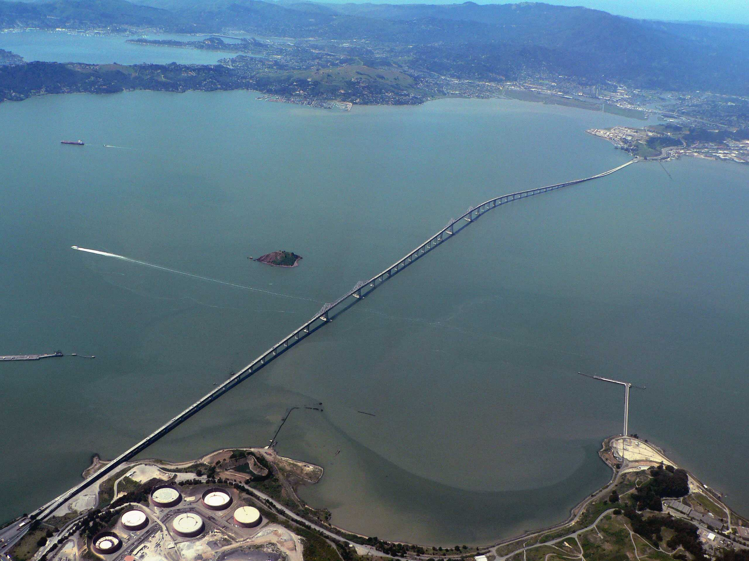 Update: Falling debris creates traffic standstill on Richmond-San Rafael Bridge