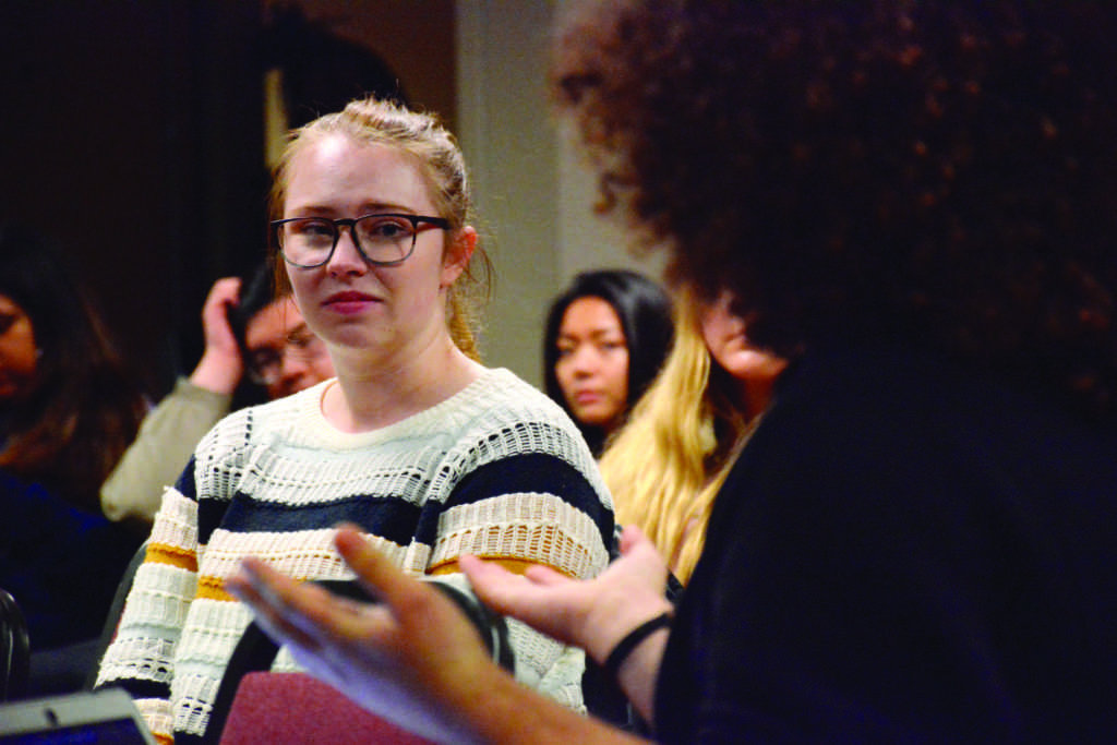 The RHA held a Town Hall event on Tuesday, Feb. 26 to discuss safety on campus, as well issues with the SF State alert system following a shooting in near by Park Merced. (Tristen Rowean/Golden Gate Xpress)