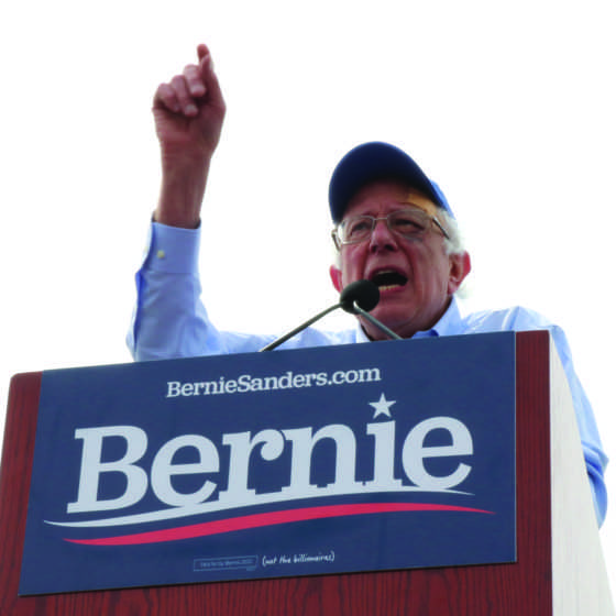 San Francisco welcomes Vermont senator Bernie Sanders to Fort Mason