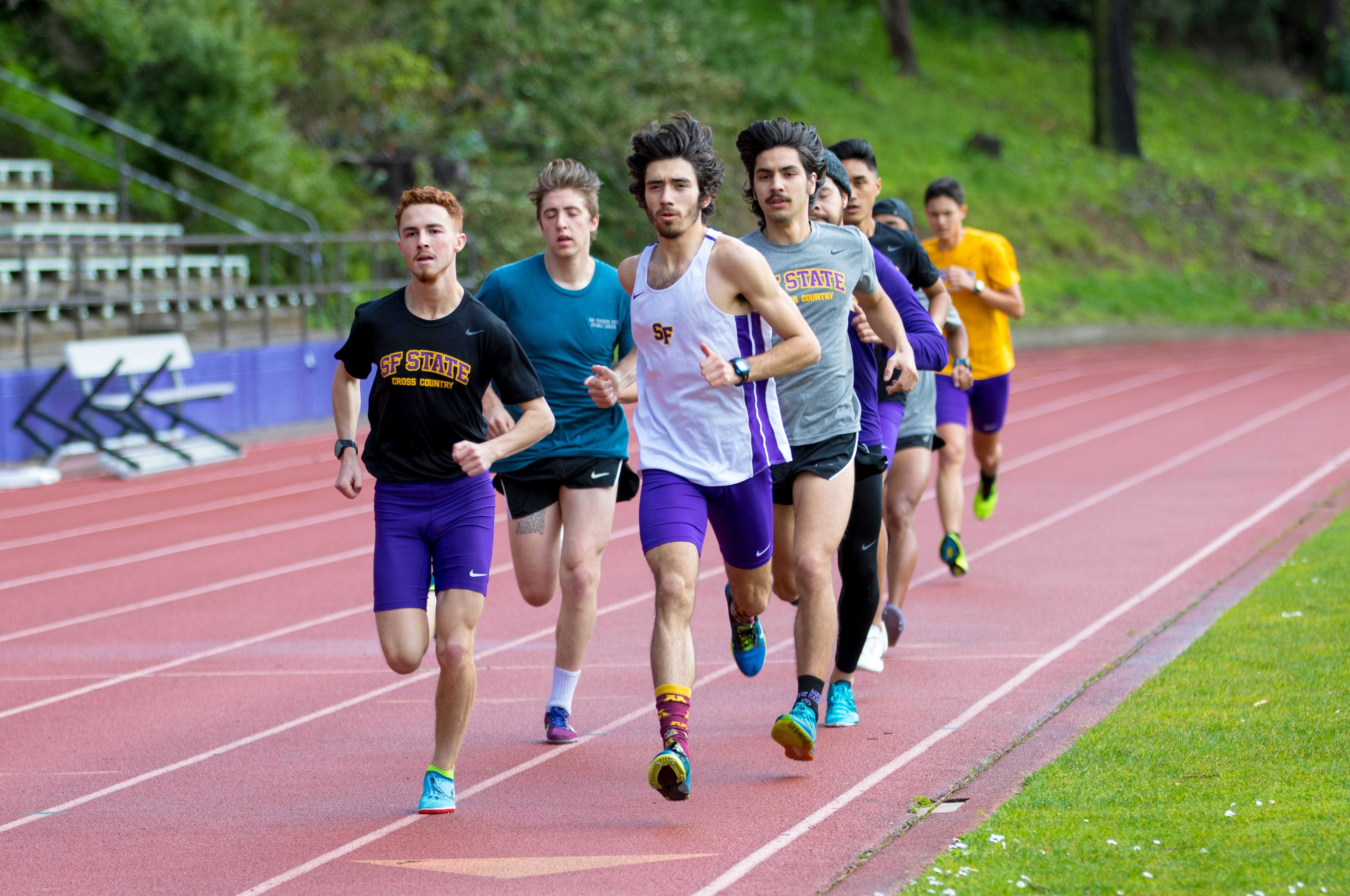 SF State runs back with the men's track and field team