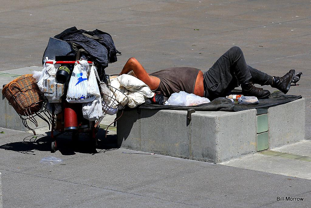 Homeless person in San Francisco. Courtesy of Bill Morrow via Flickr