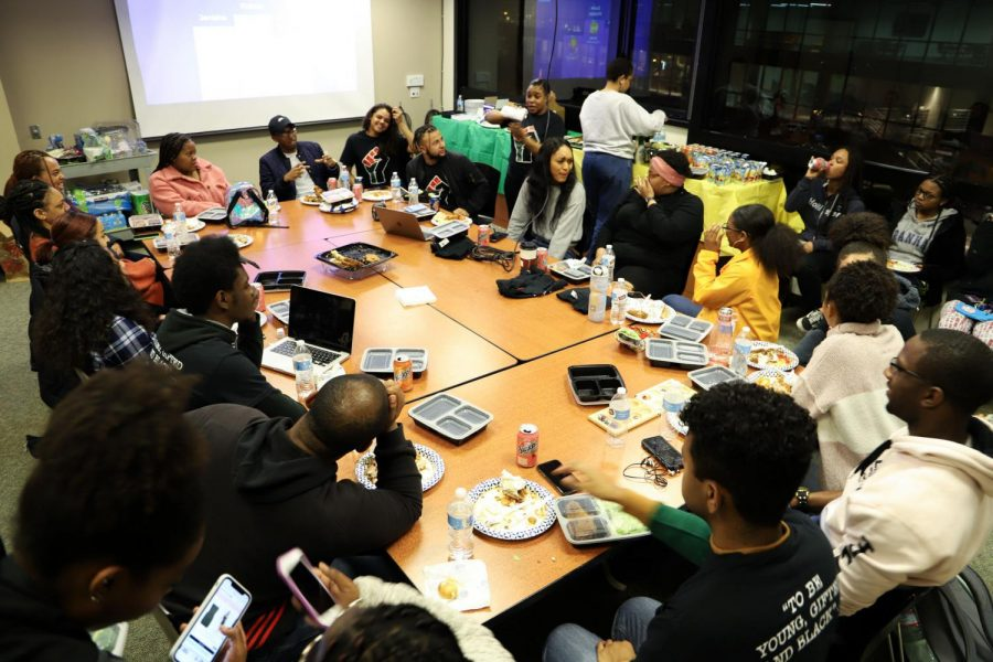 SF State organization BRUH meets for the first time in Cesar Chavez Student Center. (Saylor Nedelman / Golden Gate Xpress)