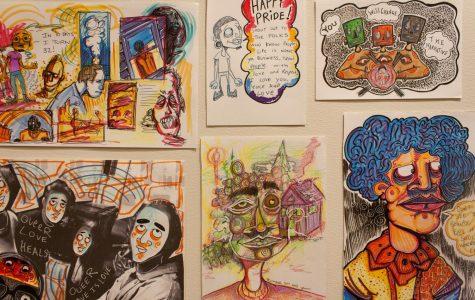 Artist faces mental health through comic art