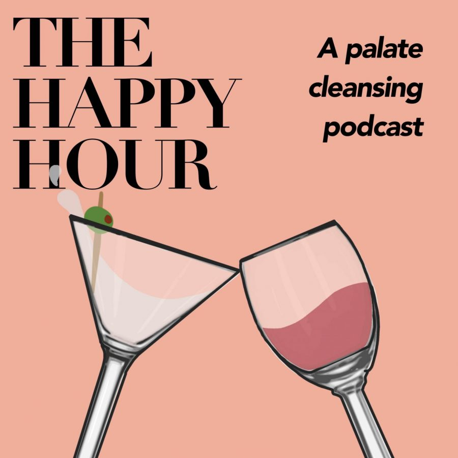 The logo for The Happy Hour: A palate cleansing podcast