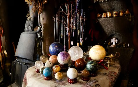 Crystals are often used to cleanse the energy of a room in spiritual practices at The Sword and Rose in San Francisco, on Monday, February 27, 2020. (Saylor Nedelman / Golden Gate Xpress)