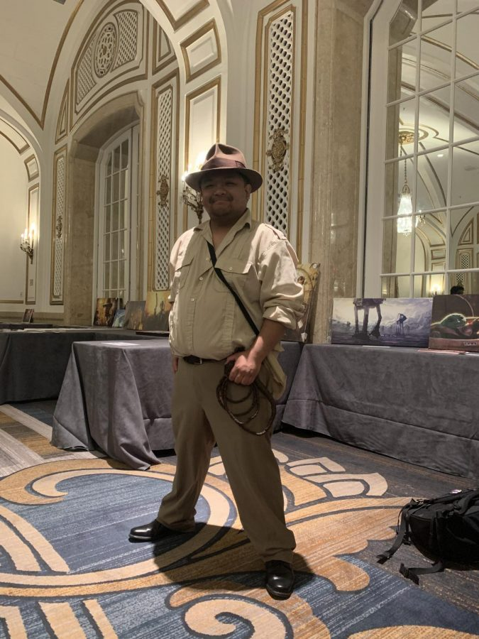 Joe Manio cosplays as Indiana Jones on Feb. 21  (Photo by Emily Cardenas / Golden Gate Xpress)