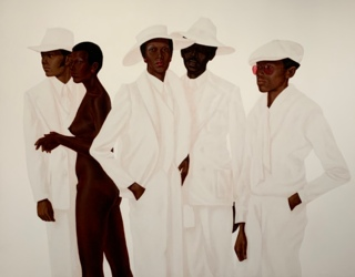 'What's Going On' by Barkley L. Hendricks on display at de Young (Briana Battle / Golden Gate Xpress)