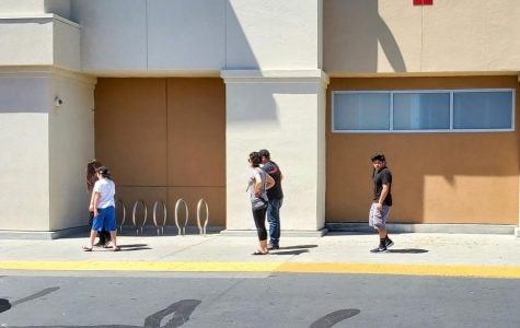 Locals in San Jose line up at a Target to shop for groceries and other items in San Jose, Calif. on April 24, 2020 (Golden Gate Xpress / Daniel Da Silveira)