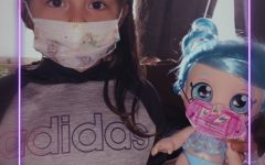 Liv Montes made her doll (baby) a face-mask.