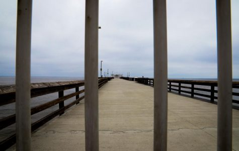 Balboa Pier is temporarily closed in Newport Beach, Calif., on Thursday, April 30, 2020. (Saylor Nedelman / Golden Gate Xpress)