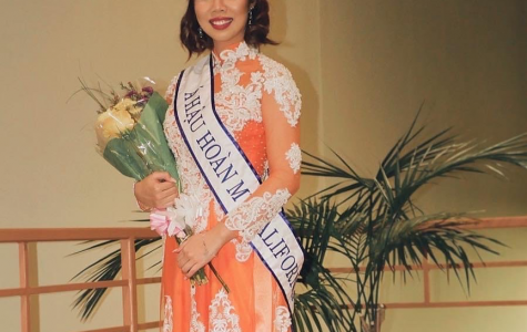 Ty Nguyen wears a Vietnamese Áo Dài  She was nominated Perfect Princess 2020 for Miss Vietnam California.