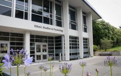 The ethnic studies and psychology building on SF State's campus, home of the College of Ethnic Studies, which was established in Fall 1969. (Harika Maddala / Golden Gate Xpress)