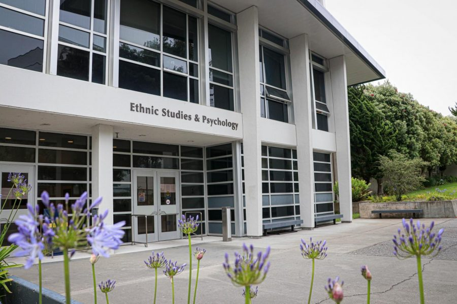 The ethnic studies and psychology building on SF States campus, home of the College of Ethnic Studies, which was established in Fall 1969. (Harika Maddala / Golden Gate Xpress)