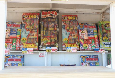 A TNT firework stand in Sacramento, Calif.  on July 3, 2020. (James Wyatt / Golden Gate Xpress)