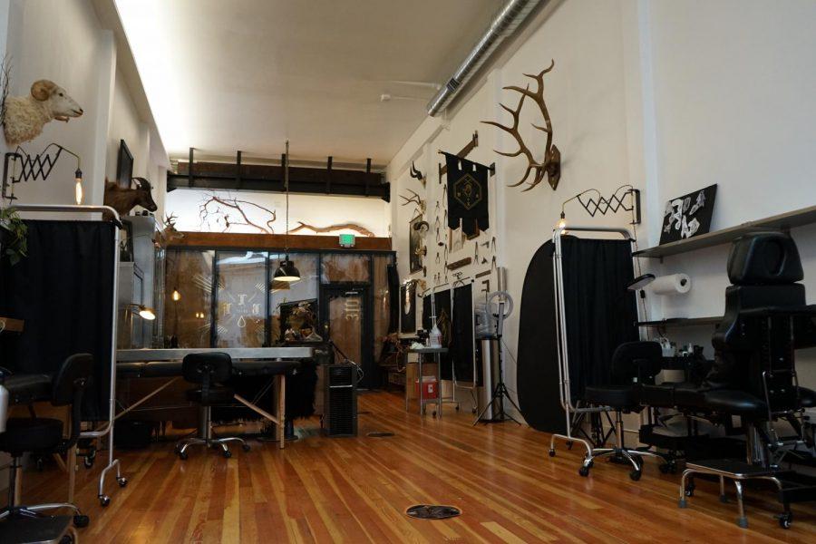 An+interior+view+of+Black+Serum+Tattoo+located+at+310+Valencia+St.+%28Daniel+Da+Silveira+%2F+Golden+Gate+Express%29