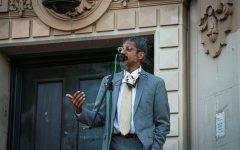 Shahid Buttar gives a speech during the 'Fuck AmeriKKKan Independence Day' protest at Dolores Park in San Francisco, California, on July 4, 2020. (Harika Maddala / Golden Gate Xpress)