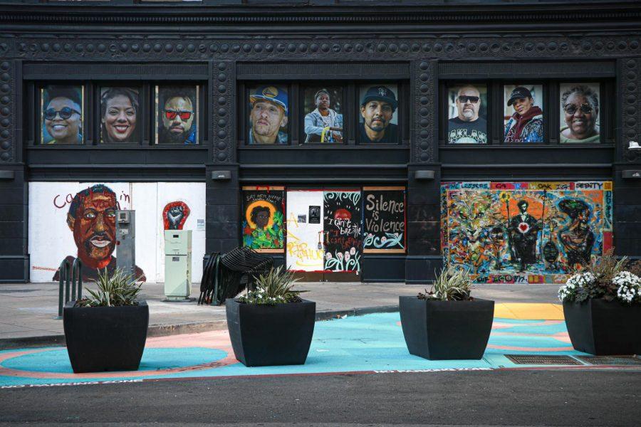 Street art on 13th Street. (Harika Maddala/ Golden Gate Xpress/Downtown Oakland, Calif. June 27, 2020)