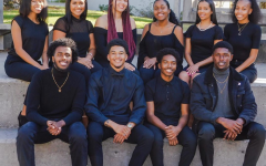 SF State's 2019-2020 Black Student Union (BSU) Executive Board. Top row (L-R): Hydea Marshall Black Community Program Director, Natalie Hibdon Membership Development Officer, Kyrah Coleman Internal Vice President, Danielle Wallace Ourstorianof BSU, Diana Freslassie BSU's President, Tiara Jones Communication Director. Bottom row (L-R): Zakariya Ali Leadership Development Director, Cameron Morgan Financial Director, Sean Smith Retention Director, Joshua Florence External Vice President. (Photographer: Amauri Martin / Photo Courtesy of BSU)